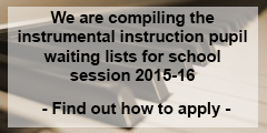 Instrumental instruction waiting list