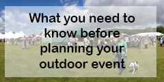 Planning an outdoor event this summer
