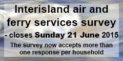 Interisland air and ferry services survey