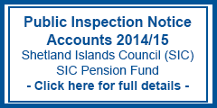 Public Inspection Notice Accounts 2014/15 SIC & SIC Pension Fund