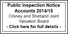 Public Inspection Notice Accounts 2014/15 Joint Valuation