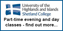 Shetland College part-time evening and day classes