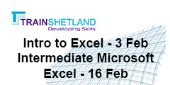 Train Shetland Excel training