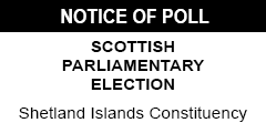 Notice of Poll - Scottish Parliamentary Election