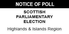 Notice of Poll - Highlands and Islands Region