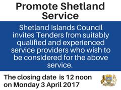 Promote Shetland Service tender notice