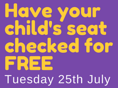 Free child seat checked