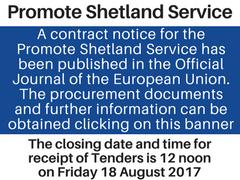 Promote Shetland Service REtender notice