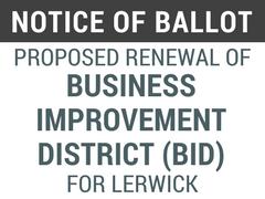 Ballot Business Improvement Lerwick