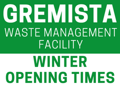 Gremista winter opening times 0217