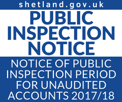 Public Inspection Notice 2018
